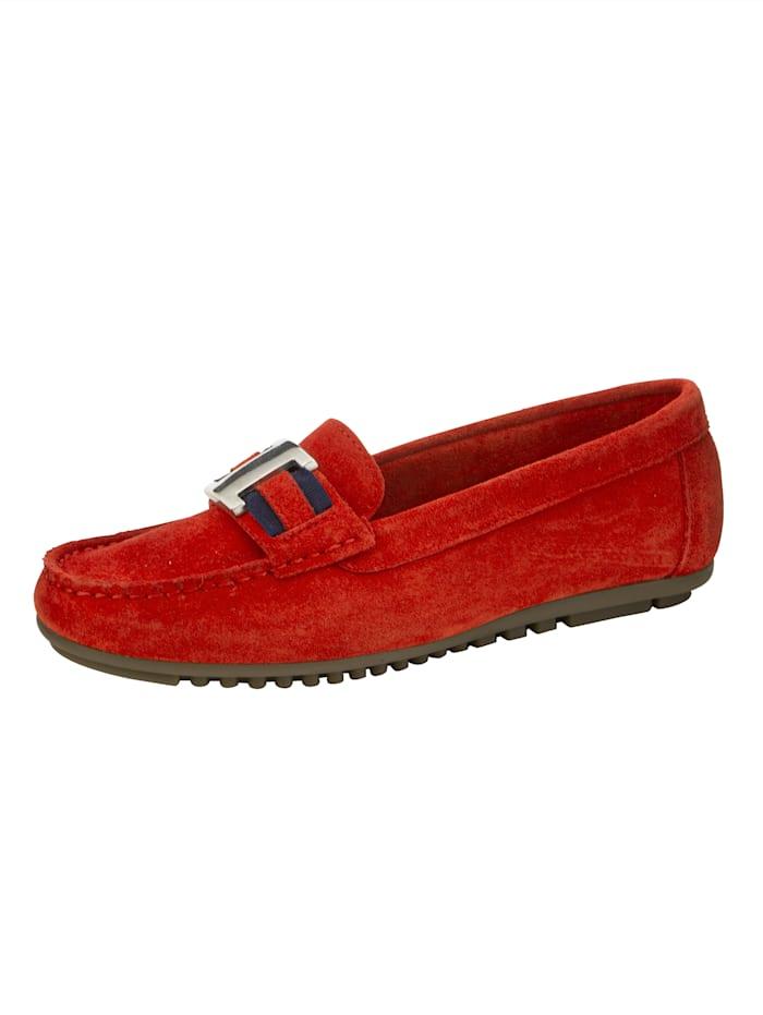 Naturläufer Loafers med eleganta detaljer, Röd