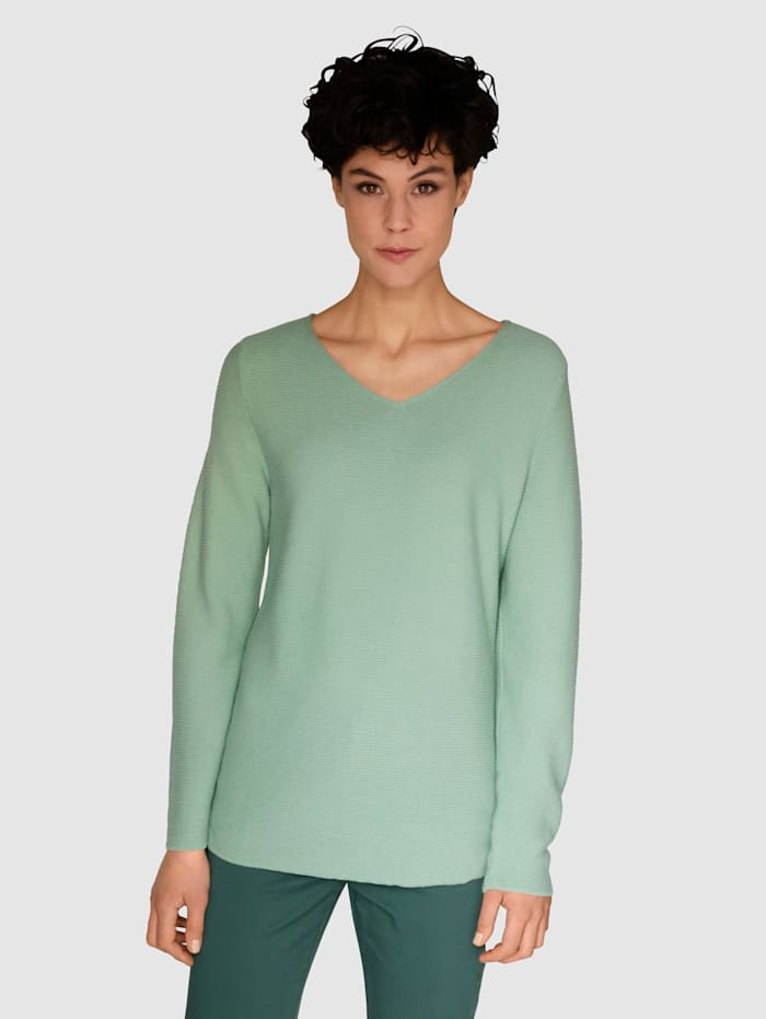 Dress In Tröja av bomull, Salviagrön