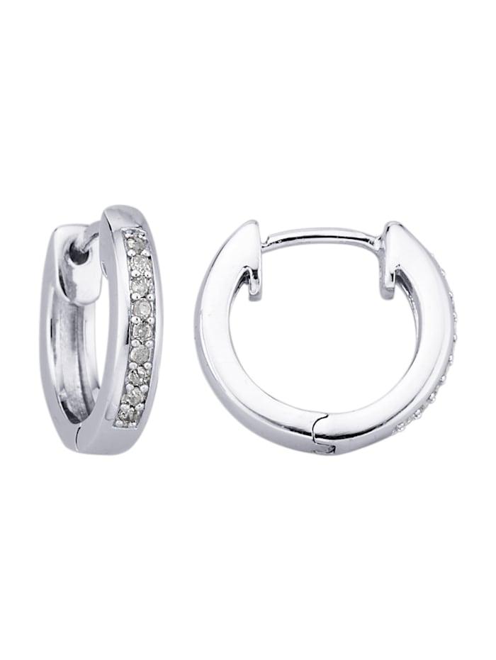 Gemondo Örhängen med diamanter, Silverfärgad