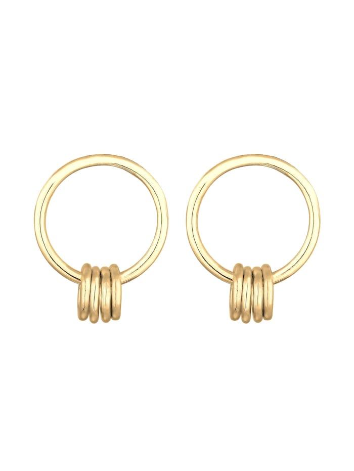 Ohrringe Ohrhänger Kreis Geo Basic Minimal 925Er Silber
