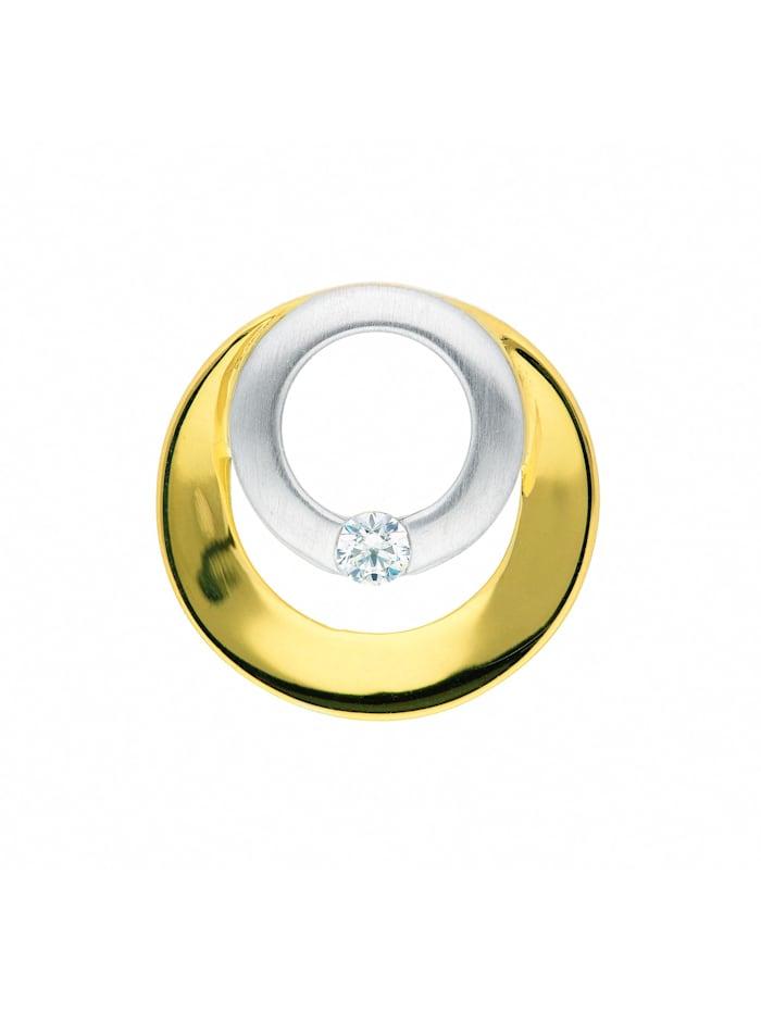 1001 Diamonds Damen Goldschmuck 585 Gold Anhänger mit Zirkonia, gold