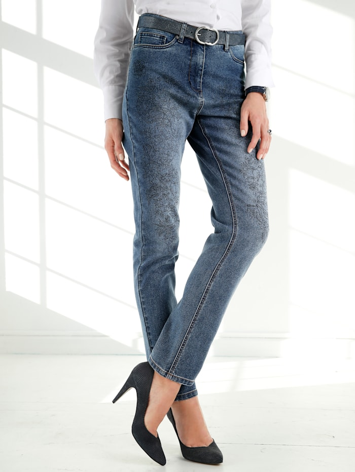 Jeans with a graphic print