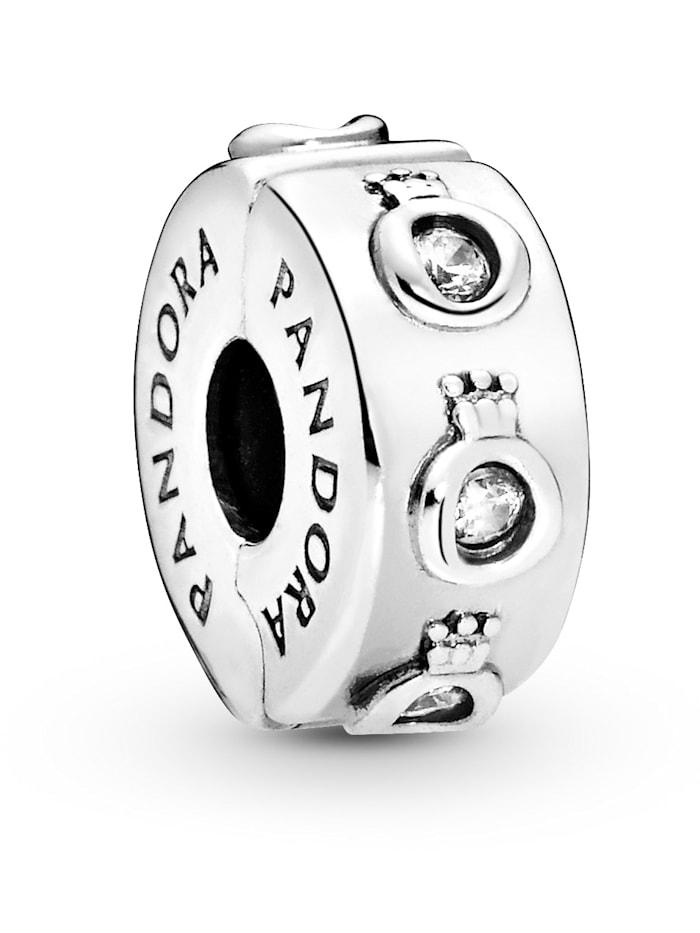 Pandora Clip-Charm -Funkelnde Krone- 798326CZ, Silberfarben