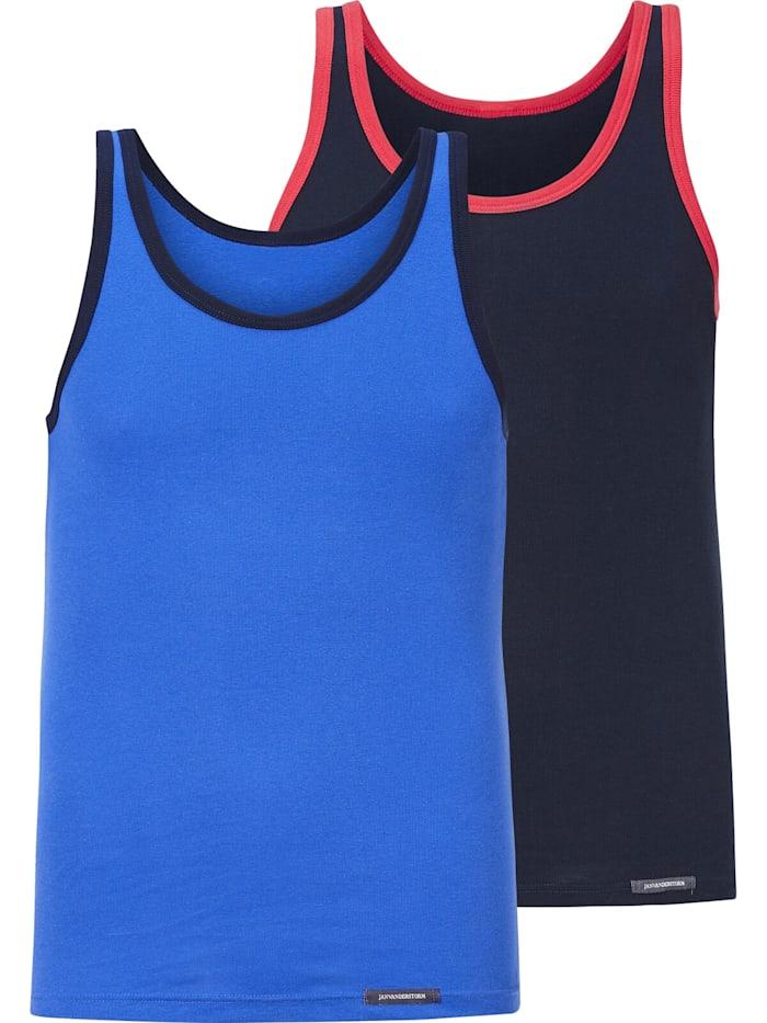 Jan Vanderstorm 2Er Pack Unterhemd TARJEI, blau
