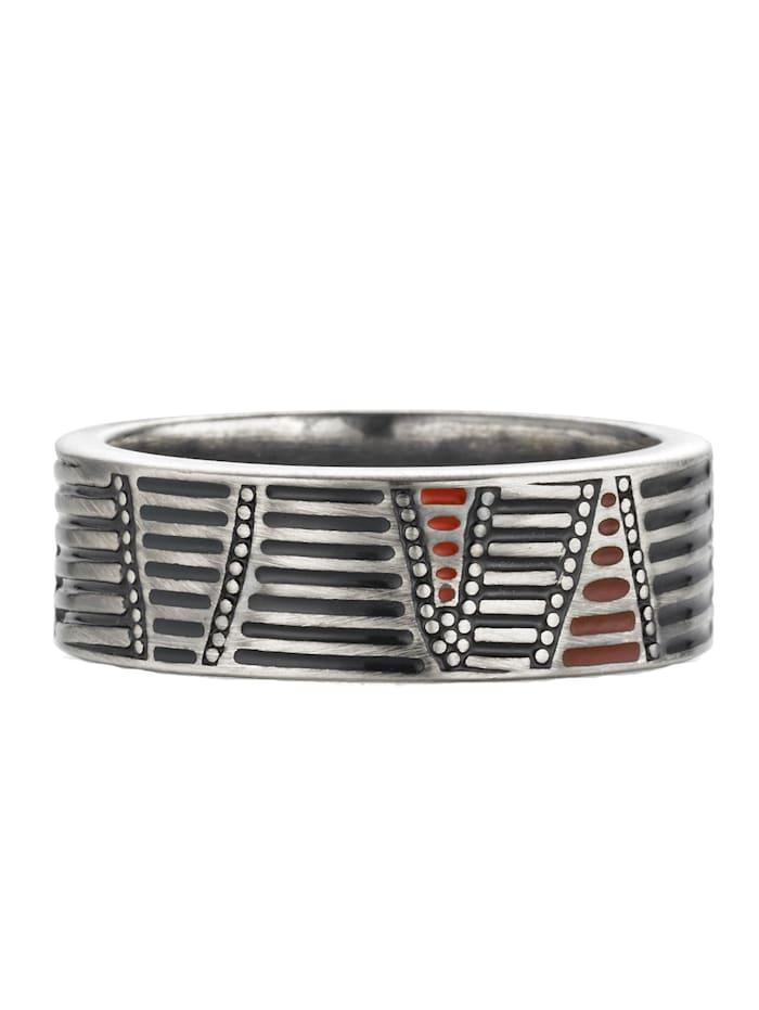 CAI Ring 925/- Sterling Silber Mattiert 925/- Sterling Silber, Silbergrau