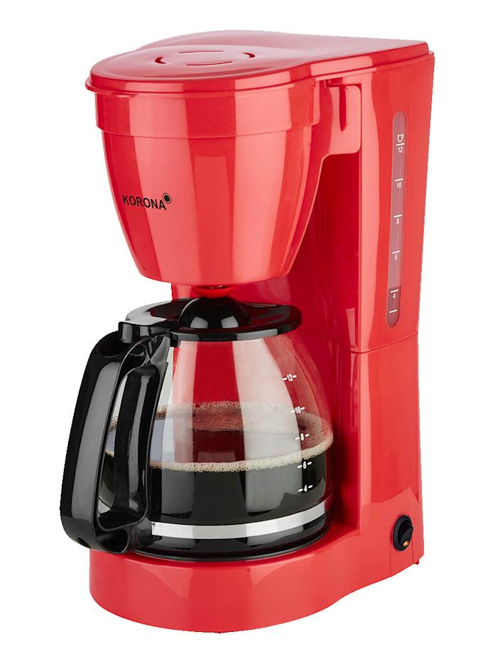 Korona Machine à café 10118, pour 12 tasses, rouge, Rouge