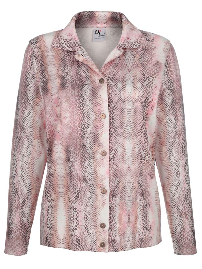 Pullover mit durchgängiger Knopfleiste