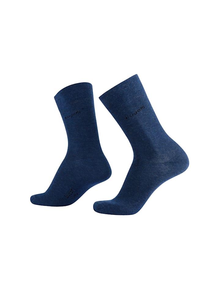 Disee Chaussettes hommes en coton doux, Marine/Bleu