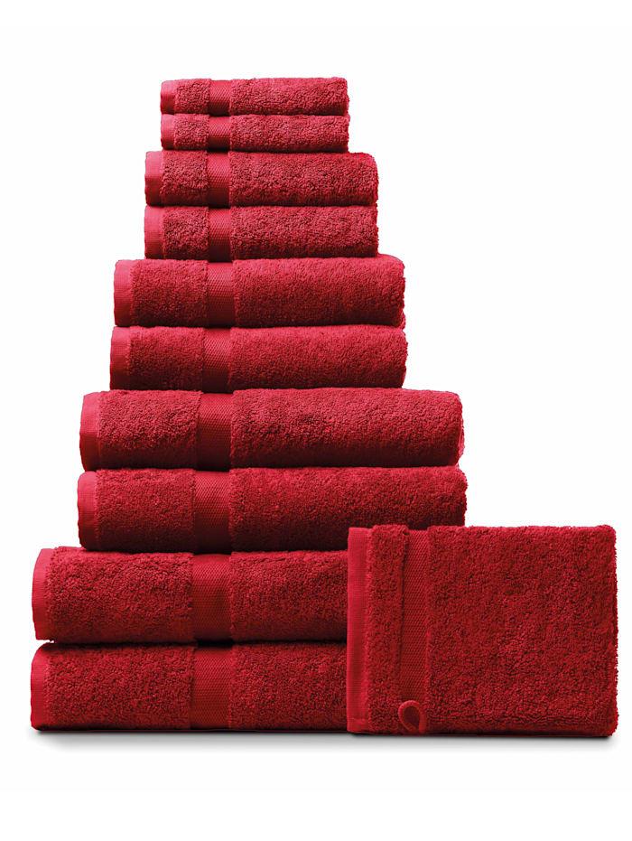 Rhomtuft Handdoeken, cardinal