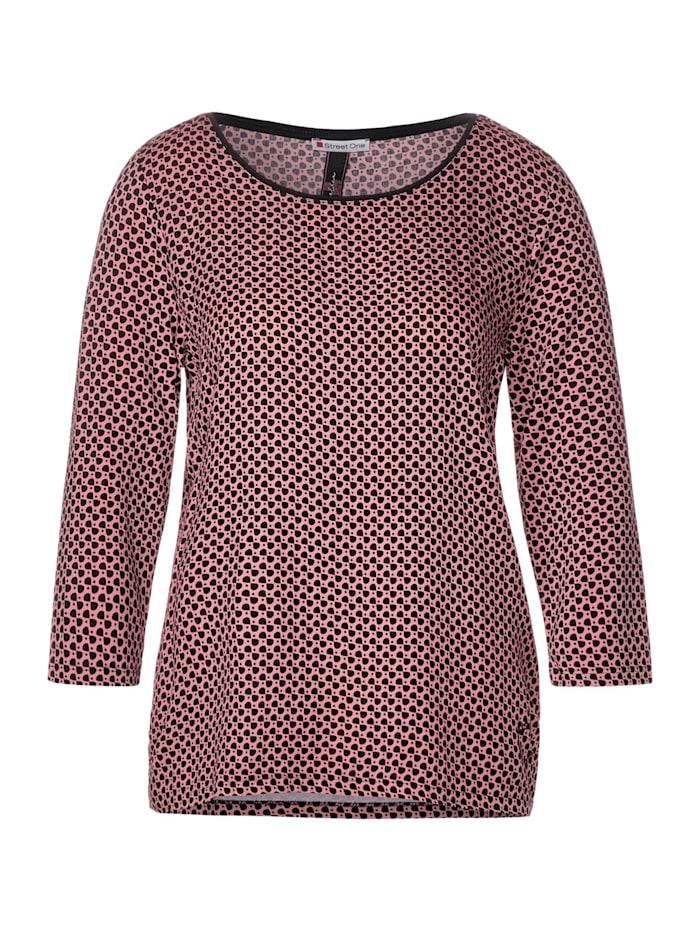 Street One Shirt mit Minimal Muster, sugar pink