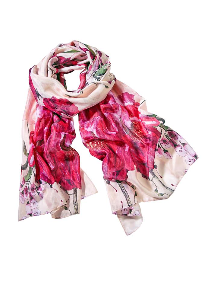 Sjaal met bloemendessin, multicolor