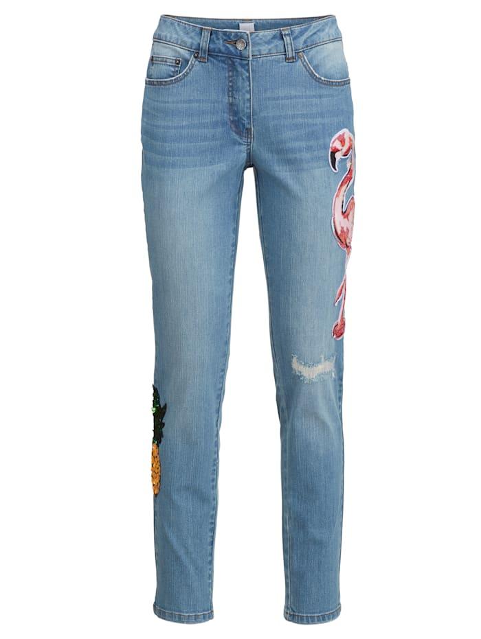 Jeans met pailletten