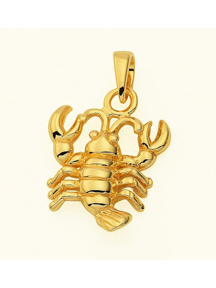 1001 Diamonds Damen & Herren Goldschmuck 585 Gold Sternzeichen Anhänger Krebs, gold