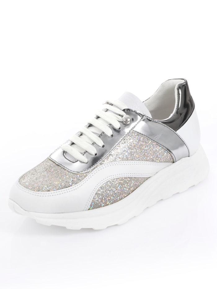Alba Moda Sneaker als sportives Highlight, Weiß/Silberfarben