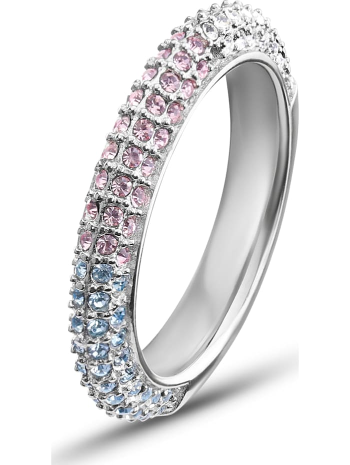 JETTE Damen-Damenring 925er Silber 34 Kristall