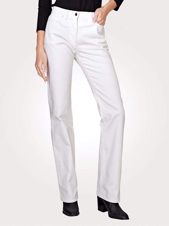 Artigiano Jean de coupe 5 poches, Blanc