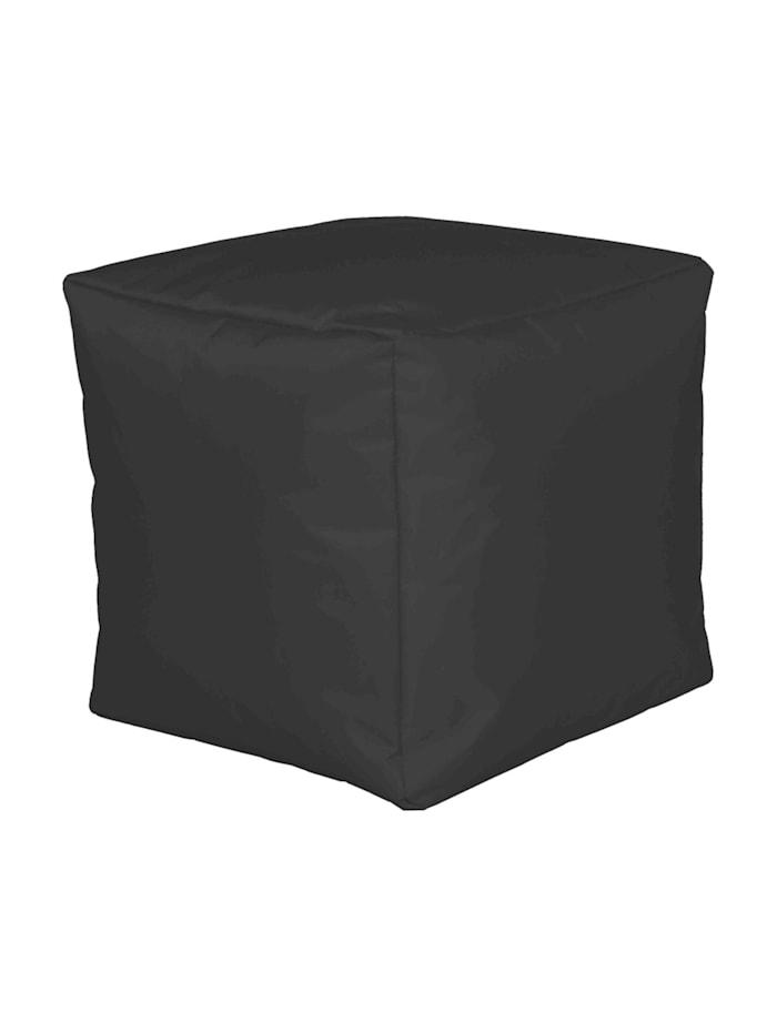 Linke Licardo Sitzwürfel Hocker Sitzkissen Nylon anthrazit 40x40x40 cm, Anthrazit