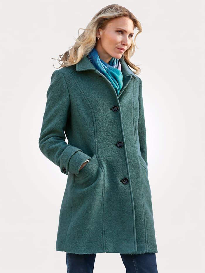 MONA Wool-blend jacket made from a warm woollen fabric, Mint