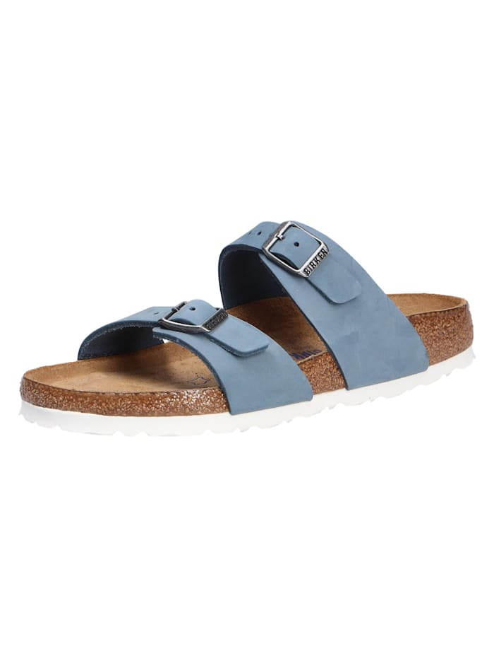Birkenstock Pantoletten, blau