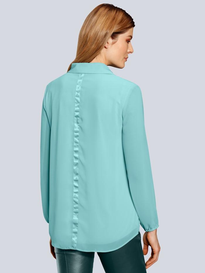 Bluse mit leichtem V-Ausschnitt