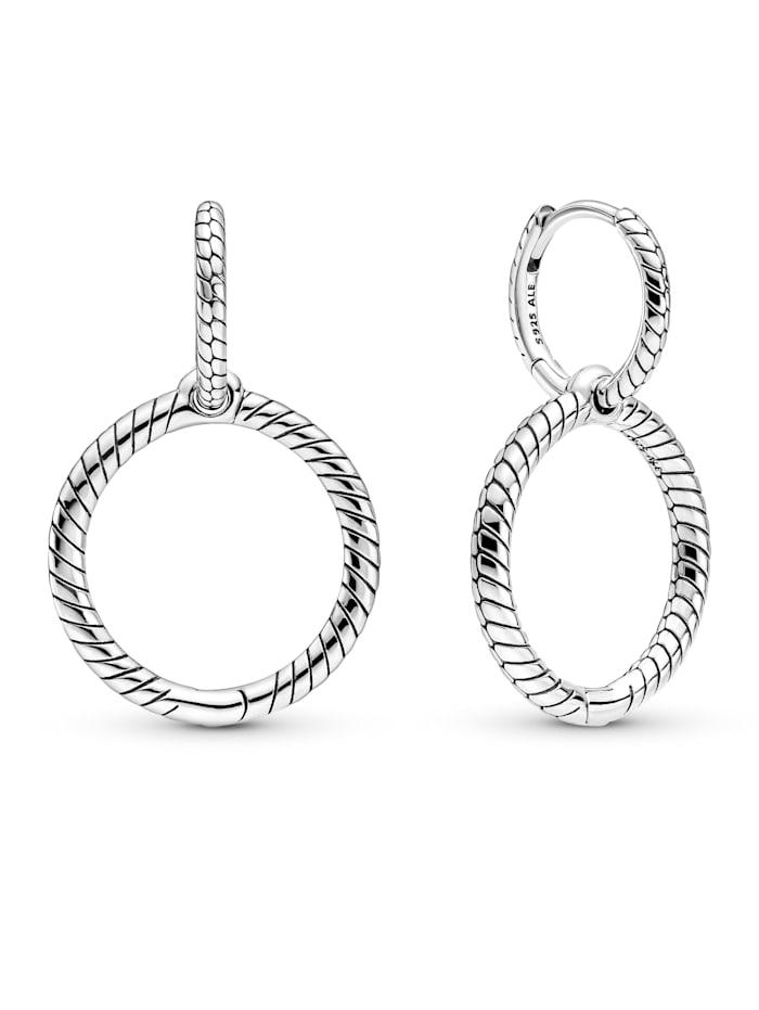 Pandora Creolen -Doppelreifen- 299562C00, Silberfarben