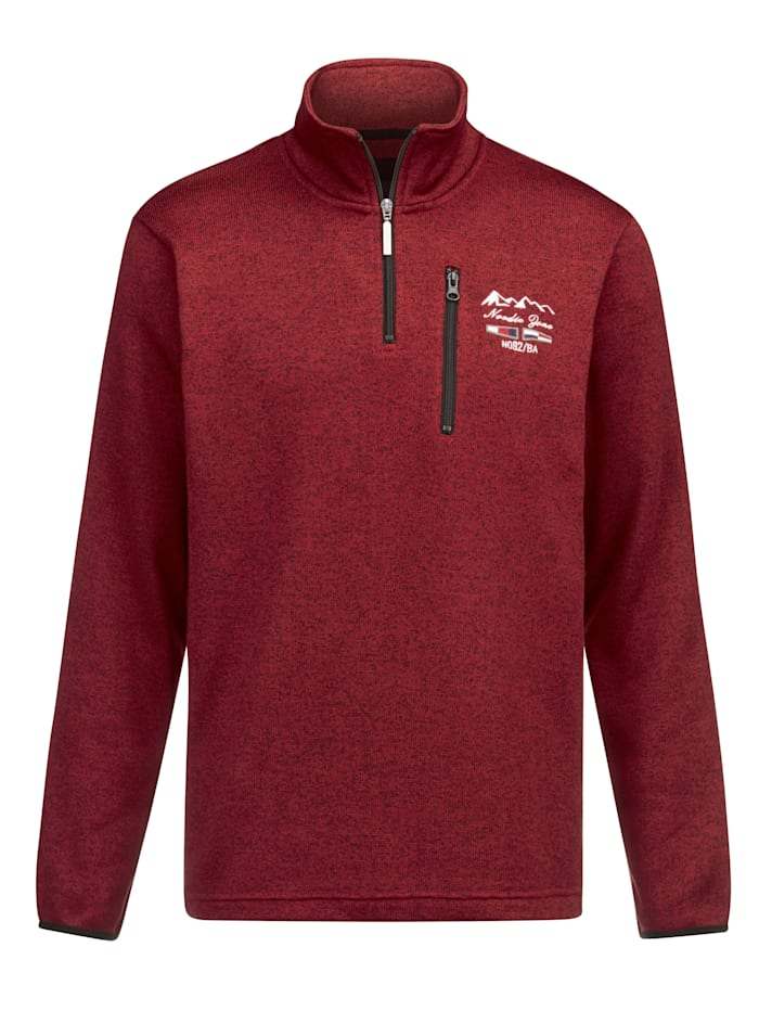 BABISTA Sweatshirt met zachte en warme binnenkant, Rood