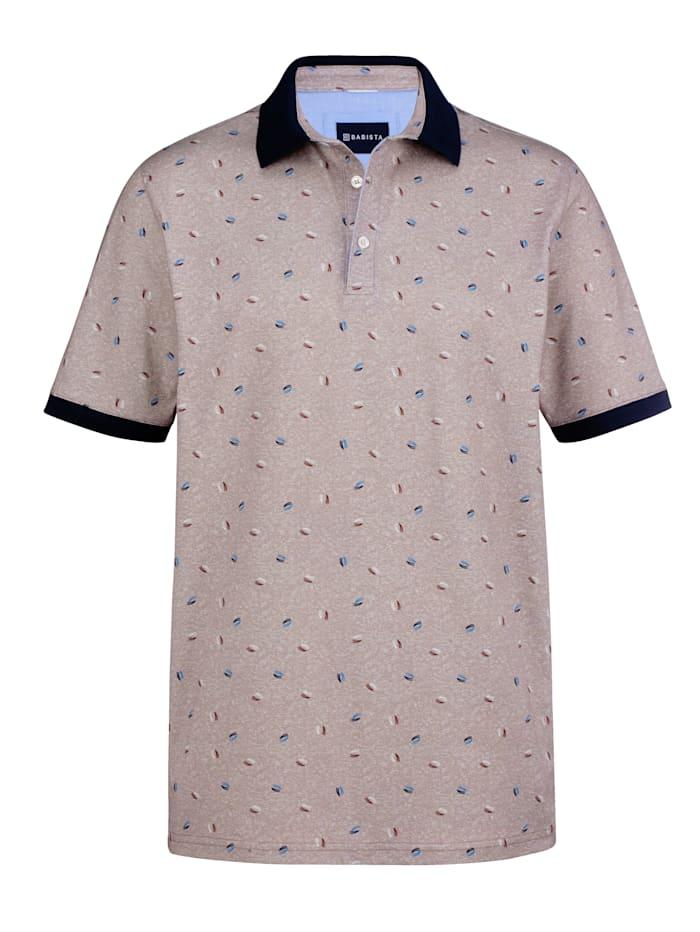 BABISTA Poloshirt mit gleichmäßigem Druckmuster, Beige
