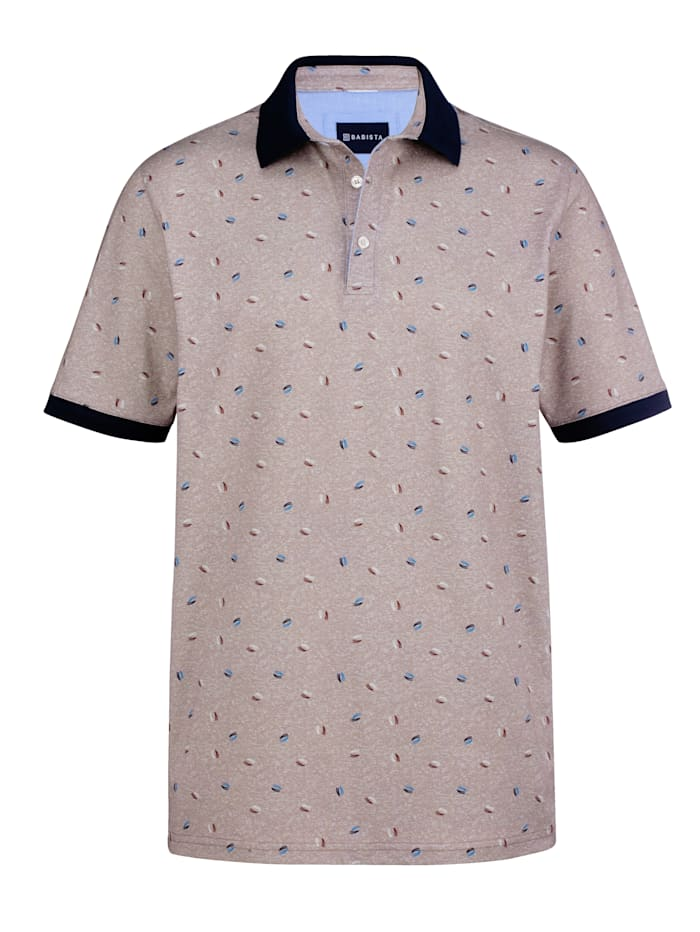 BABISTA Poloshirt met patroon, Beige