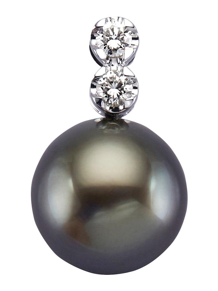 Diemer Perle Anhänger mit schwarzer Tahiti-Zuchtperle, Schwarz
