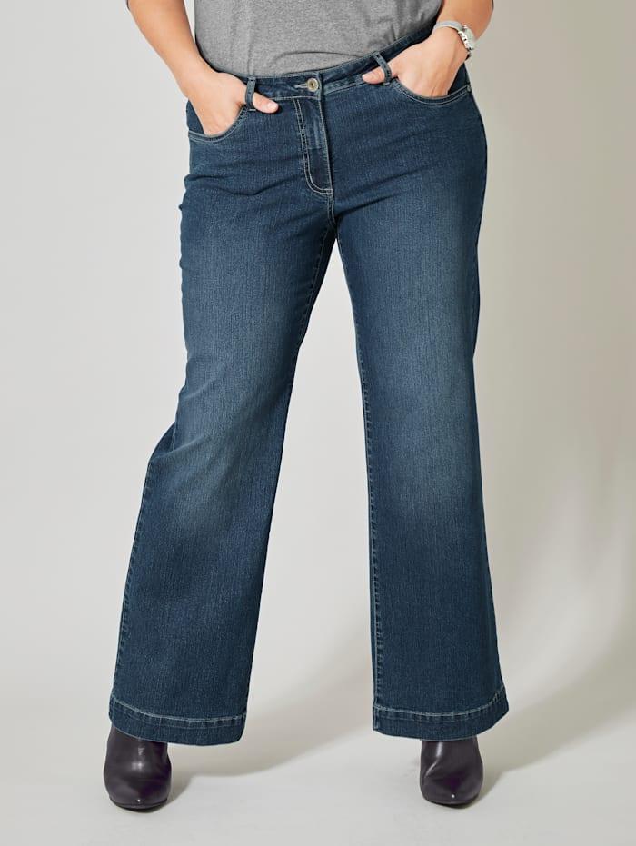 Dollywood Flare Cut Jeans Nora, Blau