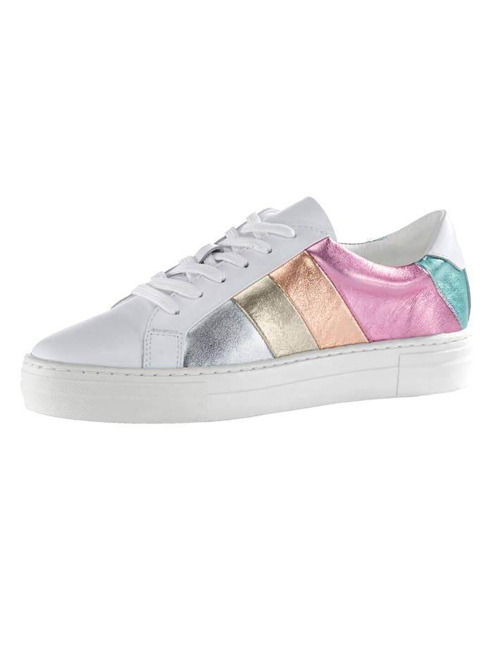 Liva Loop Sneaker in multicolor metallic look, Wit