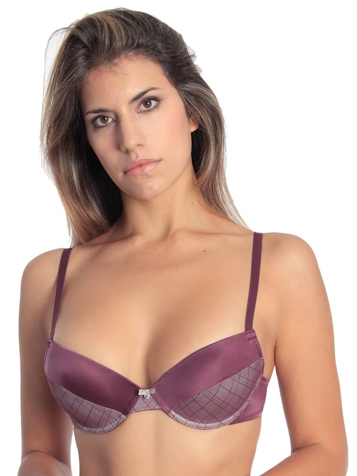 sassa Push Up BH mit Bügel Puristic Time, purple