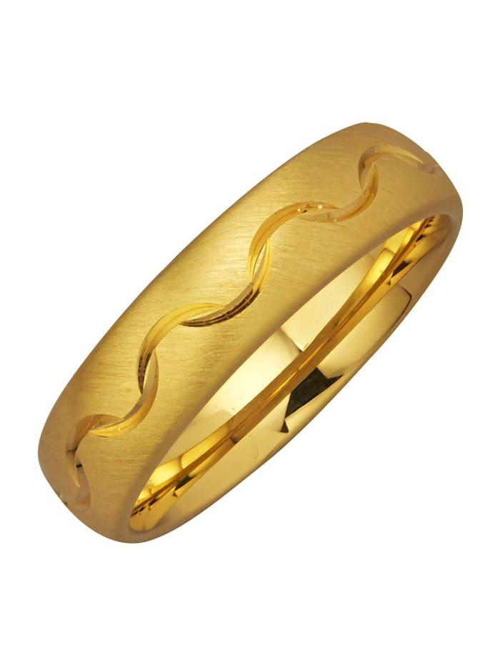 Harmony Trauring in Silber 925, vergoldet, Gelbgoldfarben