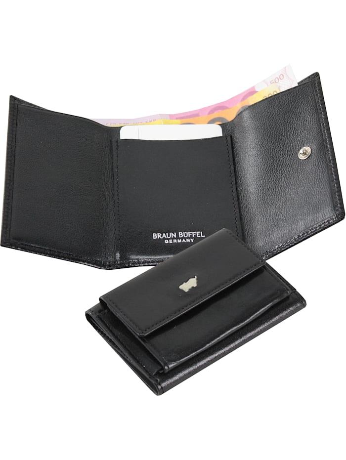 Braun Büffel Basic Geldbörse I Leder 9,5 cm, schwarz