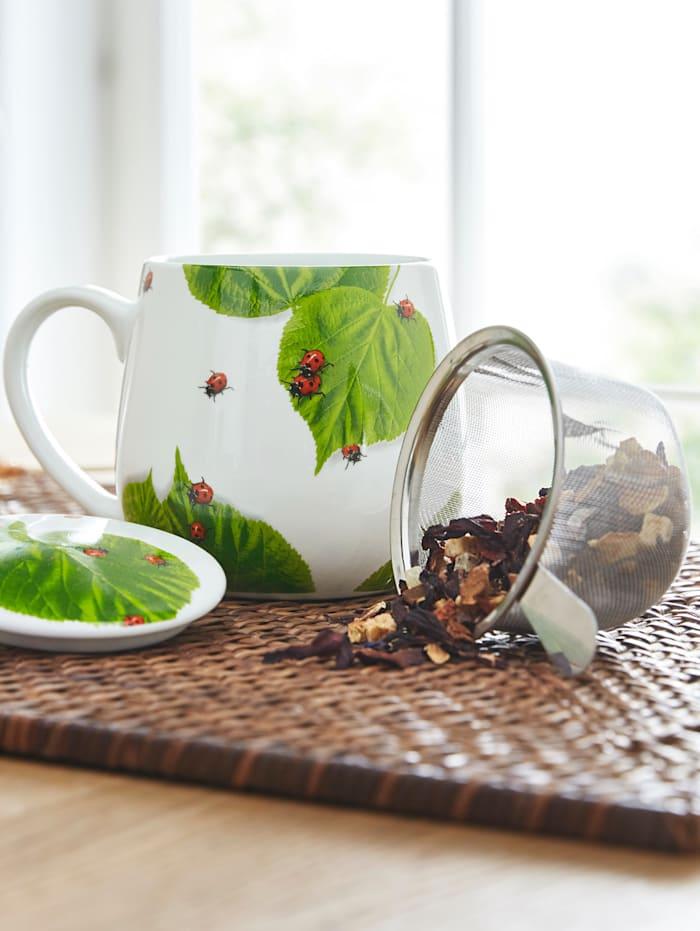 """Könitz Tasse à thé 'coccinelles"""", Multicolore"""