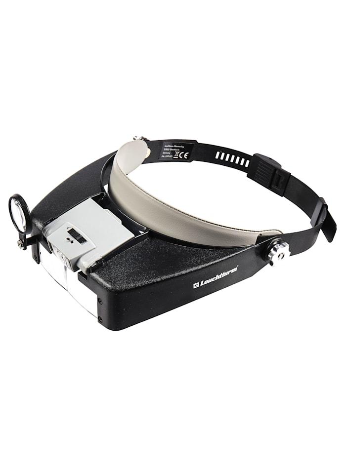 TRI Loep met hoofdband met ledlicht, zwart