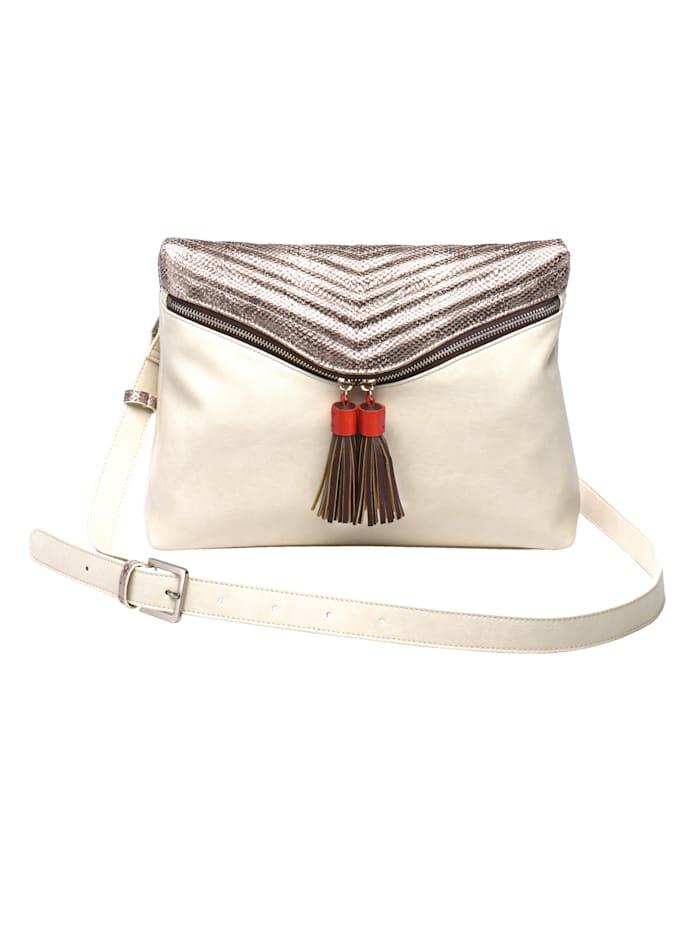 BOGY´S Brooklyn NY Shoulder bag with tassel detail, Beige/Multi