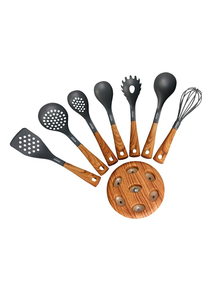 7 köksredskap med hållare