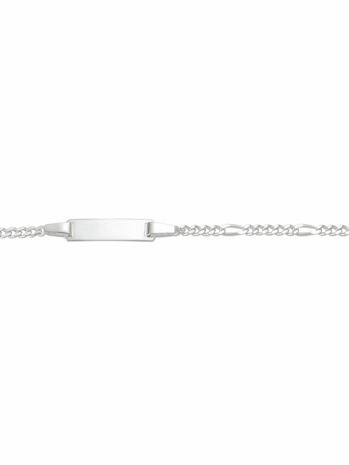 1001 Diamonds 1001 Diamonds Damen Silberschmuck 925 Silber Figaro Armband 14 cm, silber