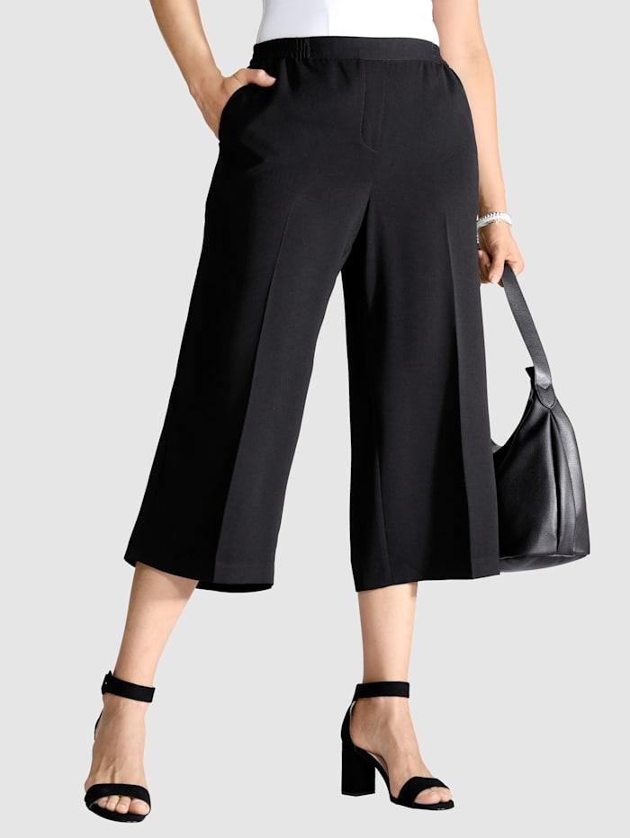 m. collection Prässätyt Culottes-housut Helposti jalkaan puettavat, Musta