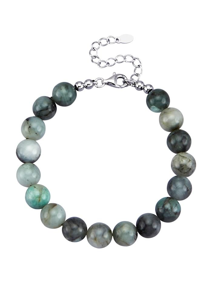 Amara Pierres colorées Bracelet avec émeraudes, Vert