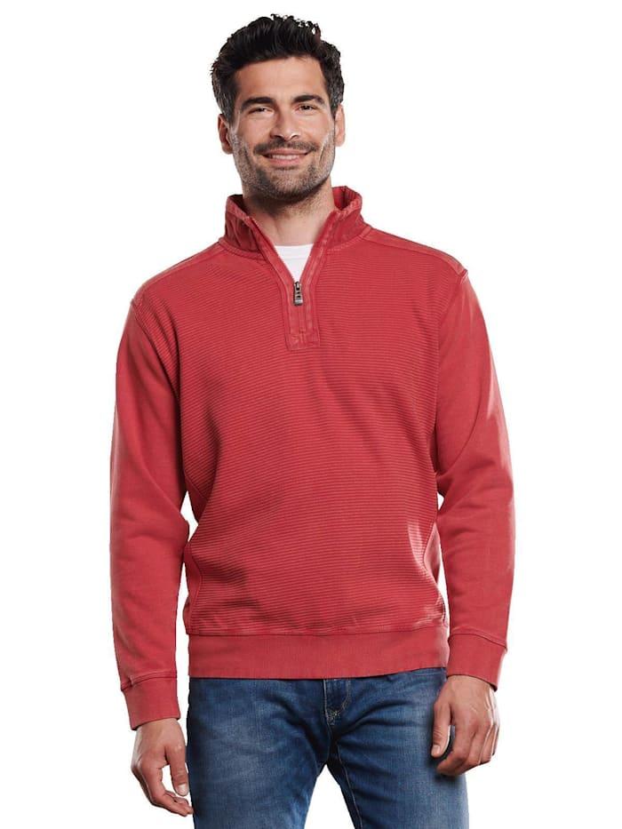 Engbers Sweatshirt mit Ottoman-Struktur, Tomatenrot