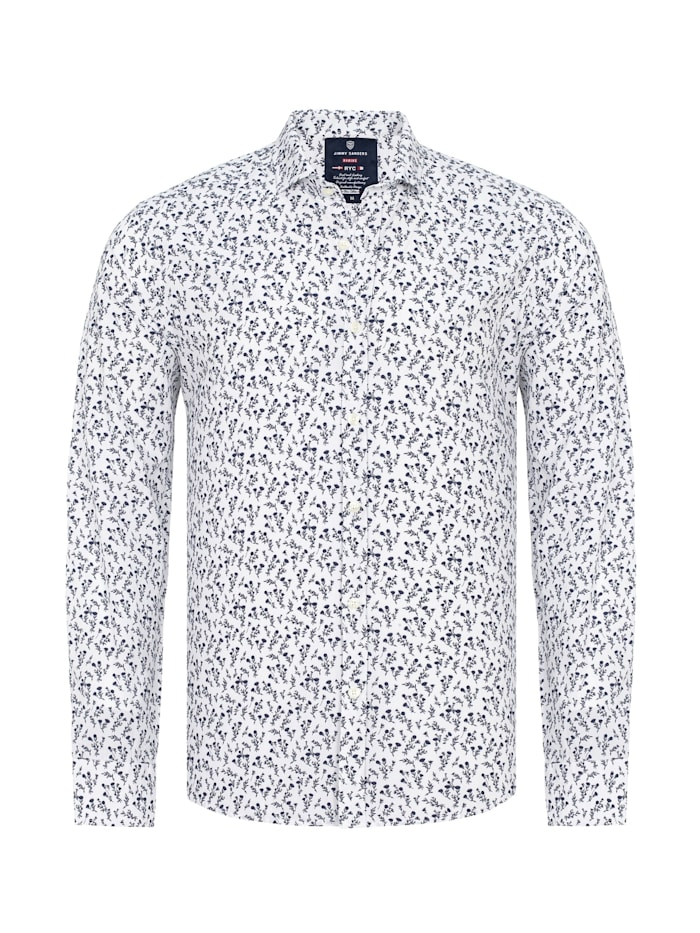 Jimmy Sanders Hemd Santino mit floralem Muster, white