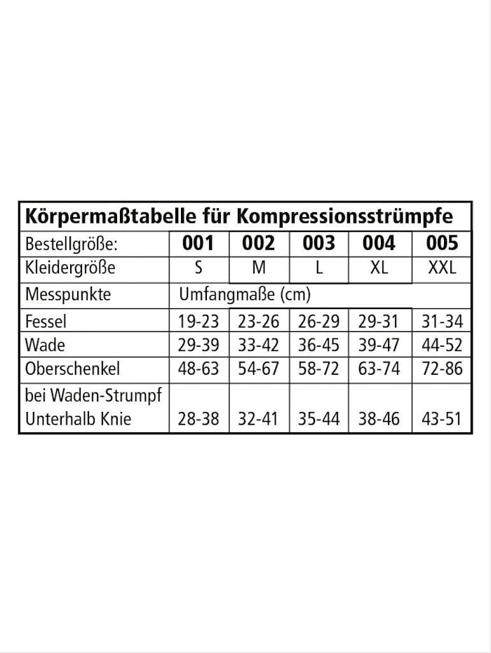Waden-Kompressionsstrumpf offene Spitze