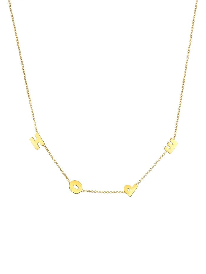 Halskette Erbskette Hope Wording Trend Buchstaben 925 Silber