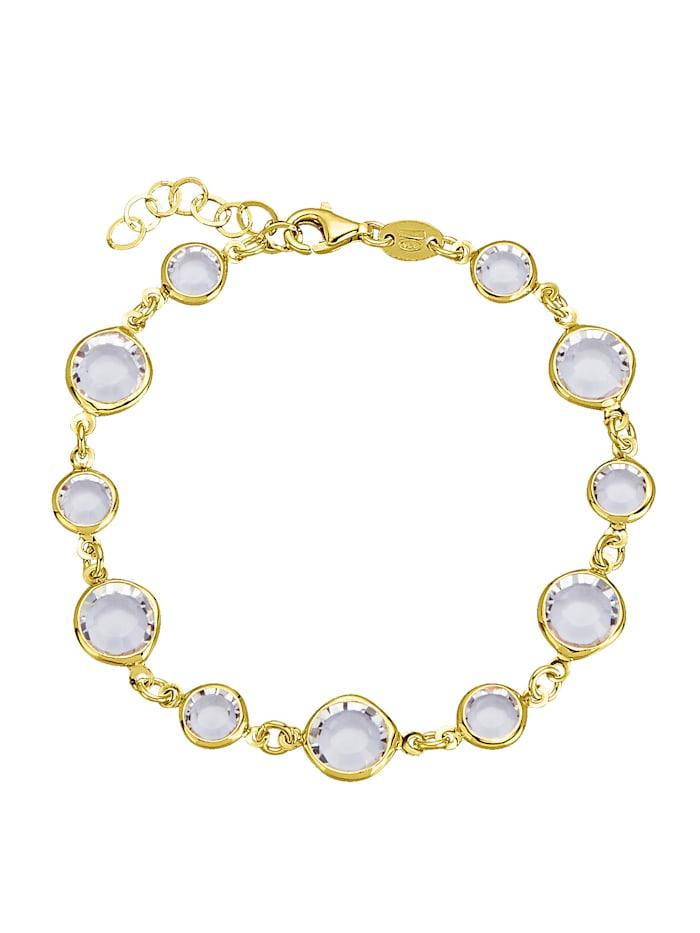 AMY VERMONT Bracelet avec cristaux Swarovski, Rose