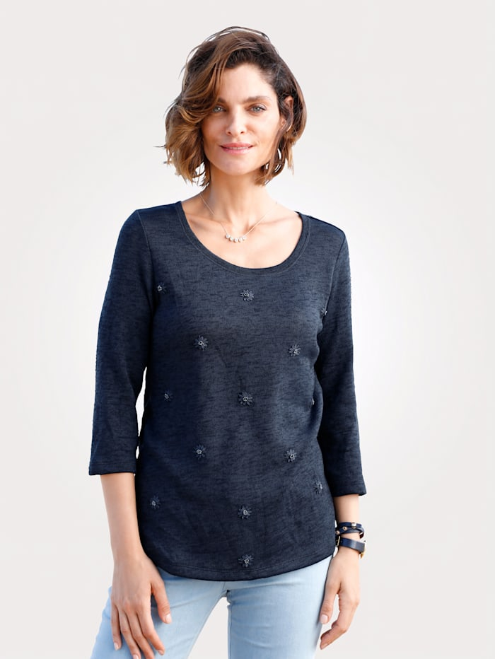 Top with floral embroidery