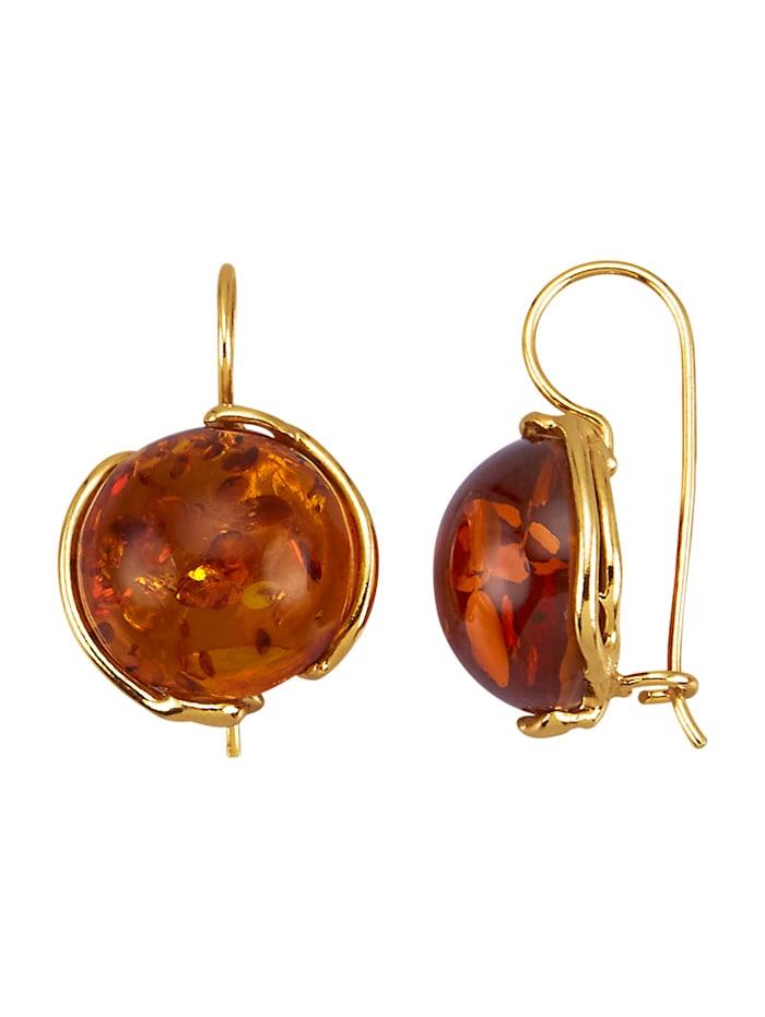 Diemer Farbstein Ohrringe in Silber 925, Braun