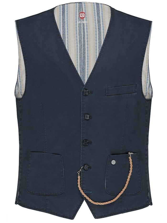 Club of Gents Uni Casual-Suit Weste CG Miko, Dunkelblau