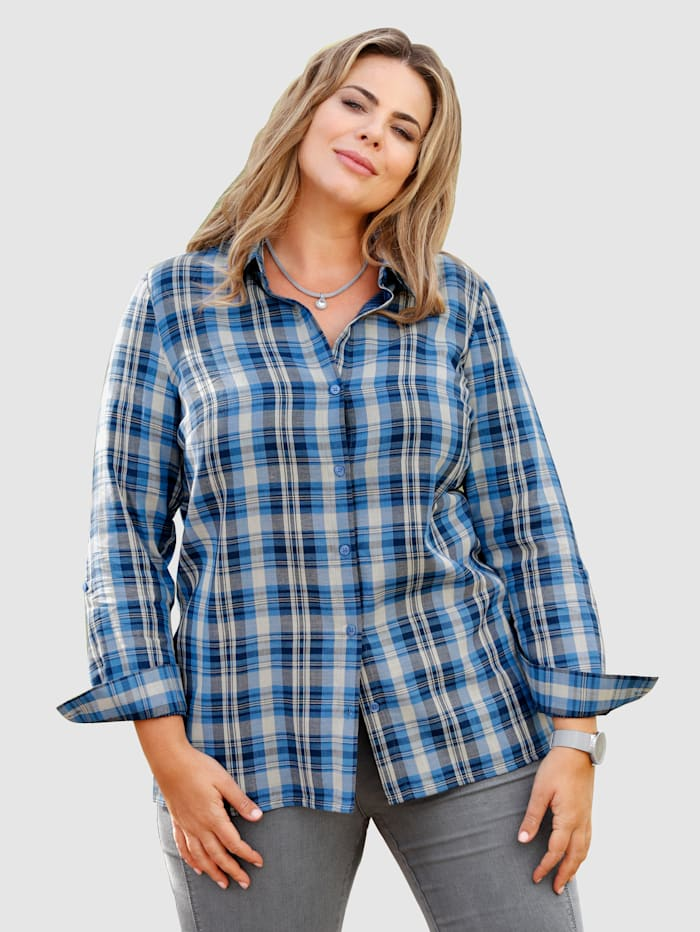 m. collection Karobluse in Double Face Qualität, Blau